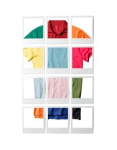 Bleu sport, rose framboise, orange... la celio*chromie s'affiche tout en légèreté, gourmandise et fraîcheur. Ce nuancier unique de 30 teintes traitées en camaïeu, illustre la diversité des émotions de la vie et remet à l'honneur le savoir-faire couleur de la marque. La celio*chromie se décline sur tous les modèles basiques mais le polo est mis à l'honneur avec ses trois nouvelles coupes et son impressionnant colorama.