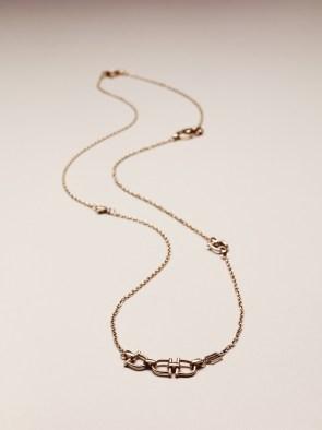 Women's Stirrup Necklace / Gold