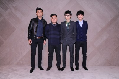 Khalil Fong & band members at the Burberry event in Pacific Place Hong Kong