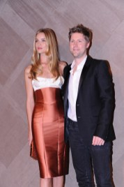 Rosie Huntington-Whiteley & Christopher Bailey at the Burberry event in Pacific Place Hong Kong