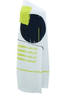 abstract print zip dress