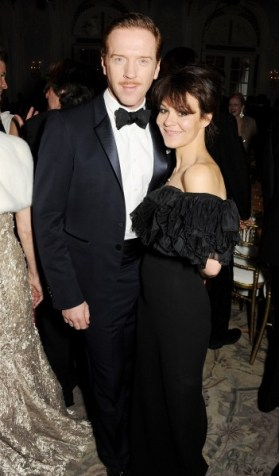 damian lewis wearing burberry and helen mccrory at the 58th london evening standard theatre awards in association with burberry