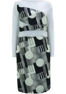 mesh & print dress