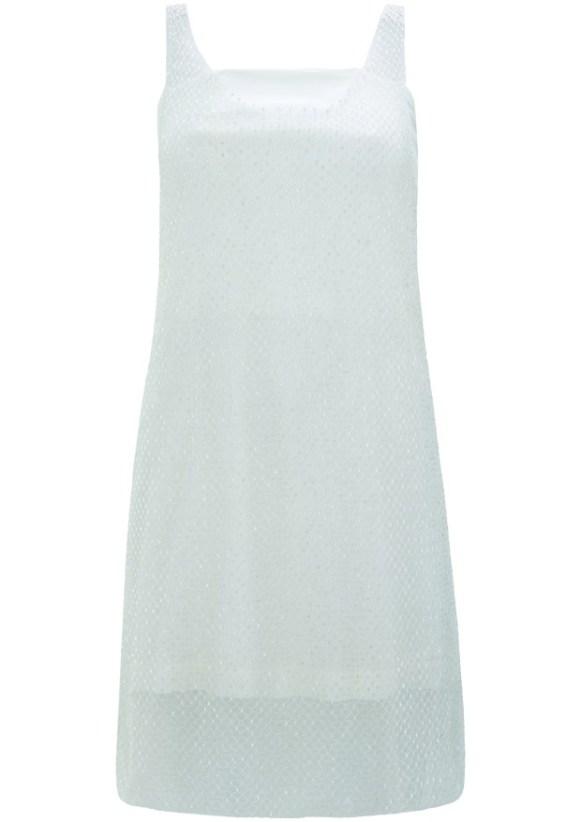 white twinkley dress
