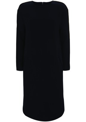 black long line dress
