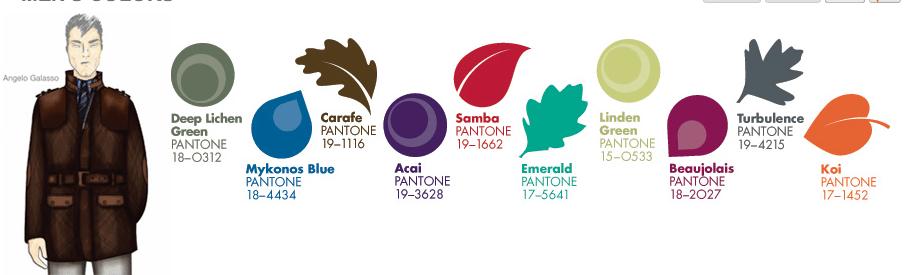 Pantone dévoile les couleurs tendances de l'automne 2013