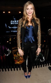 Burberry Acoustic Presents Jake Bugg Live At 121 Regent Street on January 31, 2013 in London, England. Pic Shows: Cara Delevingne, wearing Burberry Pic Credit: Dave Benett