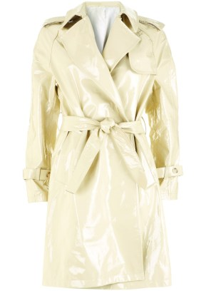 cream rain coat