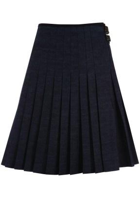 long grey pleated skirt