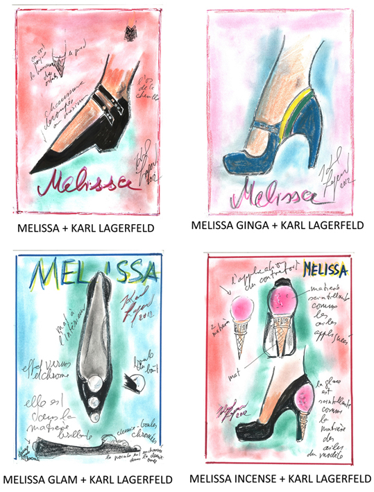 CP MELISSA + KARL LAGERFELD_4modèles_cover