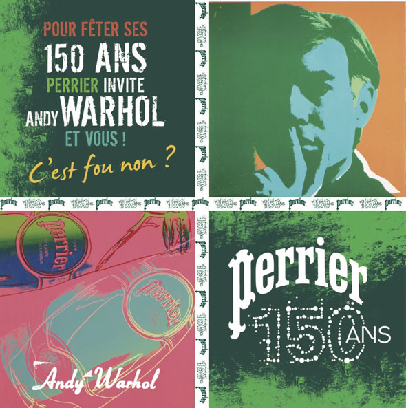 Perrier en mode Warhol