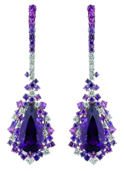 Damiani - Anima masterpiece - earrings in white gold with amethystes 20056706