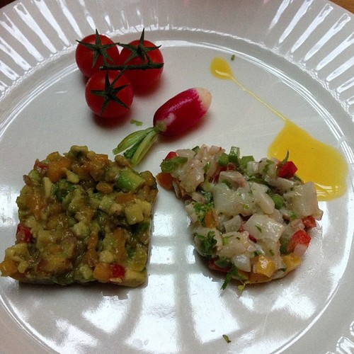 Tartare de loup coriandre et wasabi
