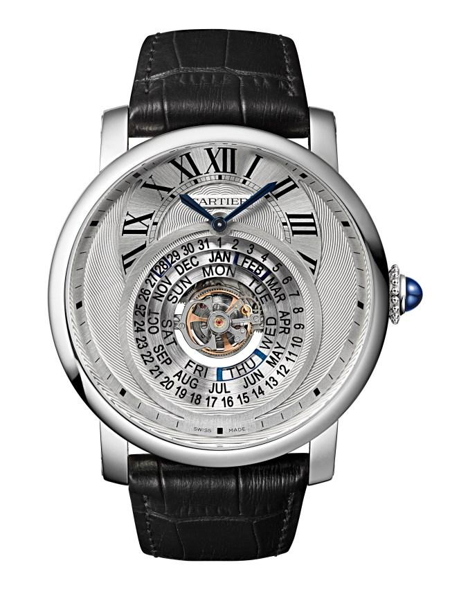 Montre Rotonde de Cartier Astrocalendaire Complication tourbillon, quantième perpétuel à affichage circulaire, calibre 9459 MC Montre certifiée Poinçon de Genève