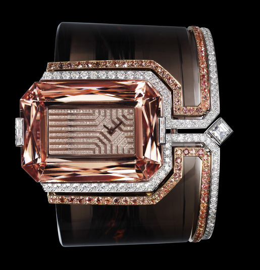 Montre-bracelet Haute Joaillerie obsidienne