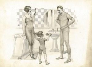 famille salle de bain -docteur Rasurel