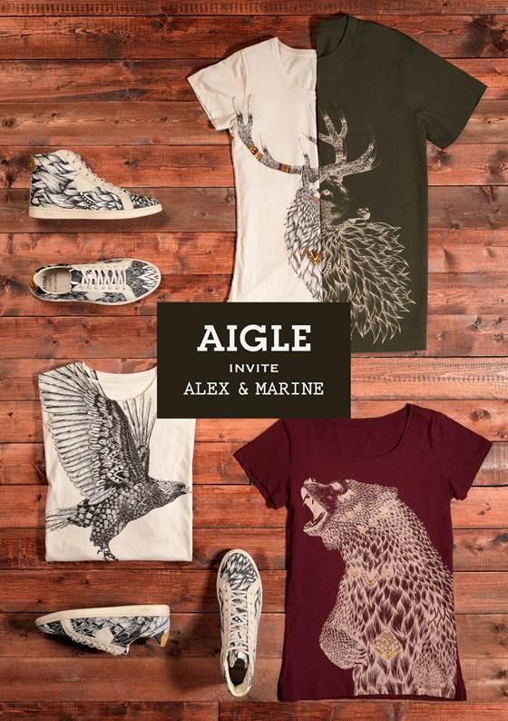 AIGLE invite Alex & Marine pour une collaboration