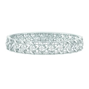 Bracelet My Dior en or blanc et diamants