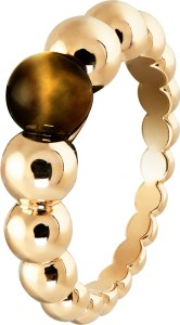 VCARO5M300_PerlÇe variation ring, yellow gold, tiger's eye_654323_696793