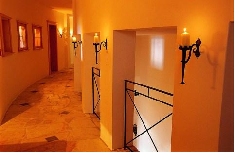 corridor of the spa area