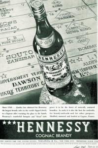 Publicité américaine Hennessy 3 étoiles