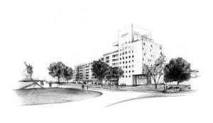 Vue du futur hôtel de Bayonne