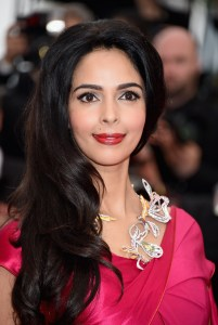 "CANNES, FRANCE - MAY 14:  Mallika Sherawat attends the ""Mad Max : Fury Road""  Premiere during the 68th annual Cannes Film Festival on May 14, 2015 in Cannes, France.  (Photo by Venturelli/WireImage)"