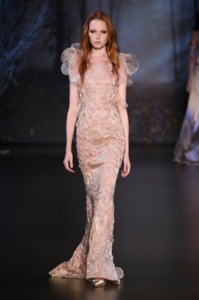 PARIS, FRANCE - JULY 10: A model walks the runway during the Ralph & Russo show as part of Paris Fashion Week - Haute Couture Fall/Winter 2014-2015 at Pavillon Cambon Capucines on July 10, 2014 in Paris, France. (Photo by Richard Bord/Getty Images)