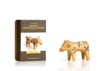 Ceramic Piglet Figurine +box