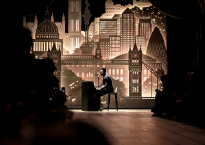 Benjamin Clementine performing live at the Burberry _London in Los Angeles_ event