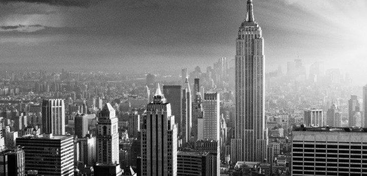 NYC Skyline. Black And White.