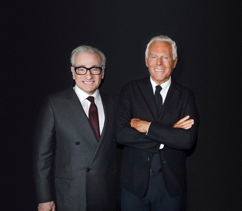 Martin Scorsese and Giorgio Armani
