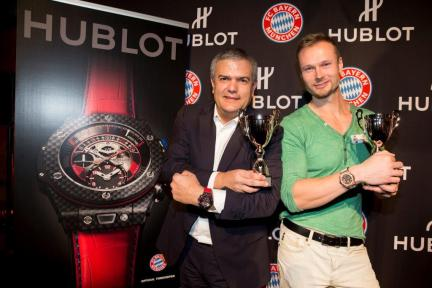 Ricardo Guadalupe winner of the mini table football tournament