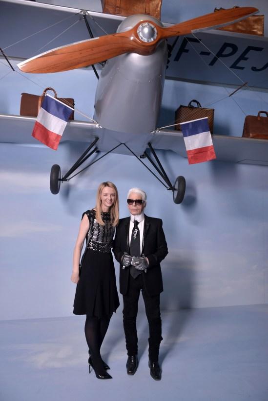 Delphine Arnault, Karl Lagerfeld