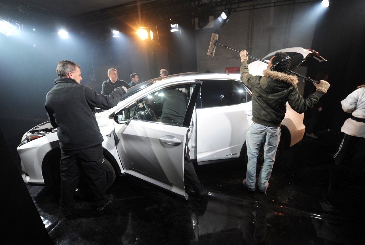 """LONDON, ENGLAND - FEBRUARY 09: Guests enjoy the new immersive theatre experience, """"The Life RX"""", a performance celebrating the launch of the boldly designed new Lexus RX on February 9, 2016 in London, England. (Photo by Stuart C. Wilson/Getty Images for Lexus)"""