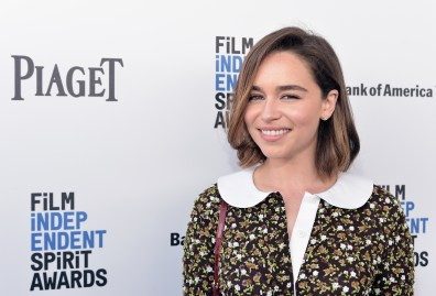 SANTA MONICA, CA - FEBRUARY 27: Actress Emilia Clarke attends the 2016 Film Independent Spirit Awards sponsored by Piaget on February 27, 2016 in Santa Monica, California. (Photo by Stefanie Keenan/Getty Images for Piaget) *** Local Caption *** Emilia Clarke