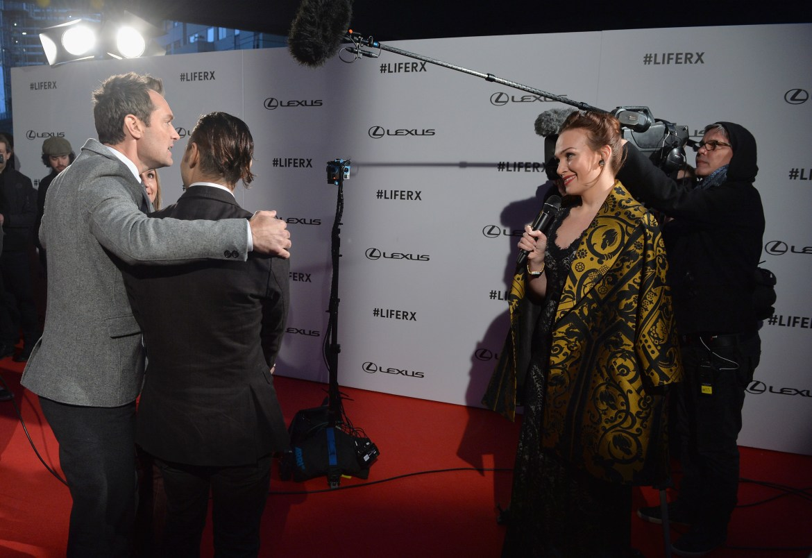 Actor Jude Law surprised guests by starring in ??The Life RX??, a new immersive theatre experience and performance celebrating the launch of the boldly designed new Lexus RX on February 9, 2016 in London, England.