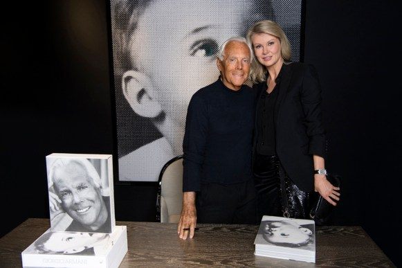 Giorgio Armani and Victoria Borisevich