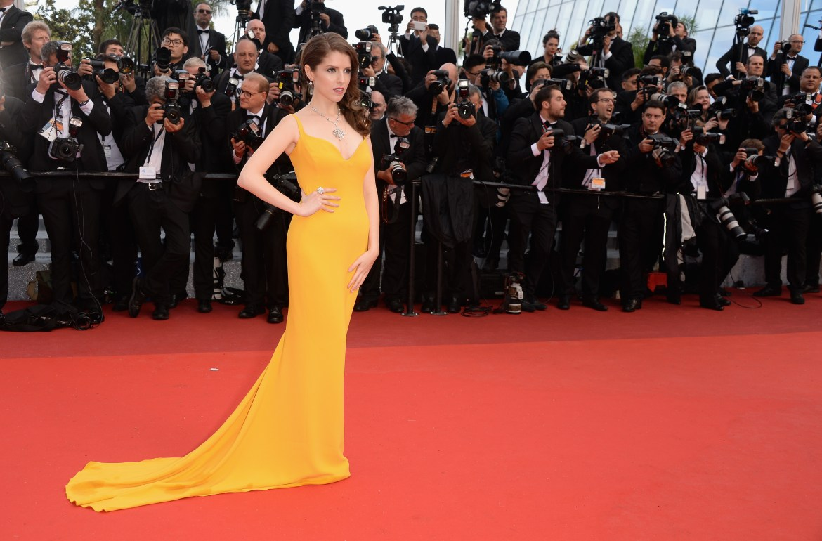 "CANNES, FRANCE - MAY 11: Actress Anna Kendrick attends the ""Cafe Society"" premiere and the Opening Night Gala during the 69th annual Cannes Film Festival at the Palais des Festivals on May 11, 2016 in Cannes, France. (Photo by Dominique Charriau/WireImage)"