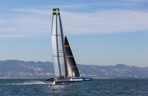Artemis Racing practice session. 13th of February, 2015, Alameda, USA
