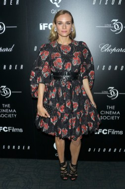 """NEW YORK, NY - AUGUST 09: Actress Diane Kruger attends the screening of IFC Films' """"Disorder"""" hosted by The Cinema Society & Chopard, with Line 39 and Qui at Landmark's Sunshine Cinema on August 9, 2016 in New York City. (Photo by Jim Spellman/WireImage)"""
