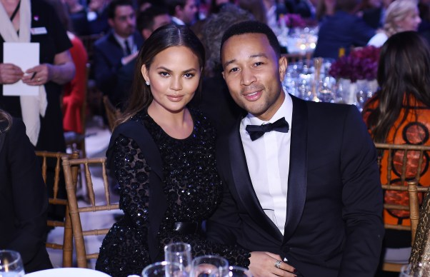 NEW YORK, NY - OCTOBER 17: Chrissy Teigen and John Legend attend the God's Love We Deliver Golden Heart Awards on October 17, 2016 in New York City. (Photo by Dimitrios Kambouris/Getty Images for Michael Kors)