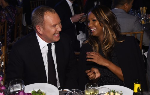 NEW YORK, NY - OCTOBER 17: Michael Kors and Iman attend the God's Love We Deliver Golden Heart Awards on October 17, 2016 in New York City. (Photo by Larry Busacca/Getty Images for Michael Kors)