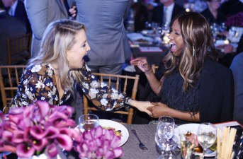 NEW YORK, NY - OCTOBER 17: Iman and Kate Hudson the God's Love We Deliver Golden Heart Awards on October 17, 2016 in New York City. (Photo by Dimitrios Kambouris/Getty Images for Michael Kors)