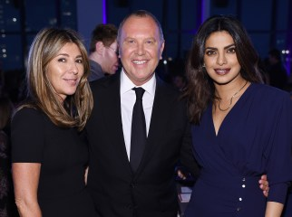 NEW YORK, NY - OCTOBER 17: Nina Garcia, Michael Kors, and Priyanka Chopra attend the God's Love We Deliver Golden Heart Awards on October 17, 2016 in New York City. (Photo by Dimitrios Kambouris/Getty Images for Michael Kors)