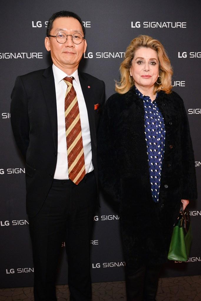 Catherine Deneuve star de la soirée LG SIGNATURE