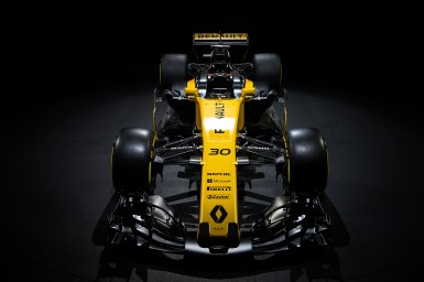 The Renault Sport F1 Team RS17. Renault Sport Formula One Team RS17 Launch, Royal Horticultural Society Headquarters, London, England. Tuesday 21st February 2017.