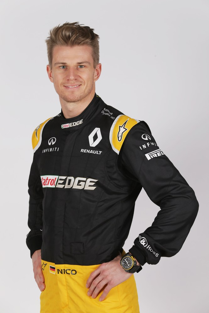 Nico Hulkenberg (GER) Renault Sport F1 Team. Renault Sport Formula One Team RS17 Launch, Royal Horticultural Society Headquarters, London, England. Tuesday 21st February 2017.