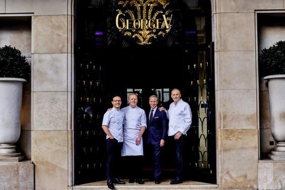 Le Four Seasons Hotel George V, Paris, premier Hôtel en Europe à proposer 3 restaurants étoilés au Guide Michelin