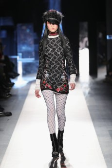 DESIGUAL_NYFW_AW17_ATWALK_LOOK 13 NEW YORK, NY - FEBRUARY 09:A model walks the runway at the Desigual show New York Fashion Week The Shows at Gallery 1, Skylight Clarkson Sq on February 9, 2017 in New York City